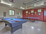 A garage turned game room will give you hours of entertainment!