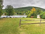 This splendid vacation rental is just 300 feet from Lake George!