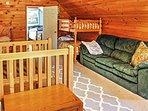 The loft provides plenty of additional sleeping space.