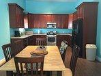 Large open kitchen, fully stocked.