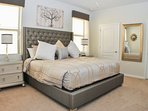 Master suite with the most comfortable bed.