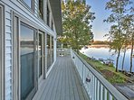 This lakefront home provides spectacular views and easy access to many different area attractions.