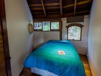 The second bedroom contains a double bed.