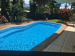 Our pool, a refreshing place to relax.
