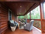 Covered back porch.