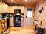 Kitchen with all the amenities:
