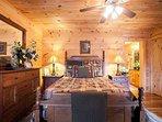 Queen bedroom on main level.