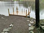 Brand new dock...swim from it in summer or ice skate right off it in winter