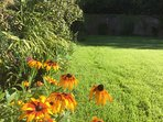 Summer flowers in the relaxing historic Listed Walled Garden which all guests are welcome to enjoy