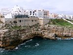 Polignano the country on the reef,  destination of our tour by land or by sea