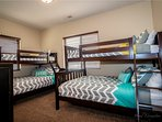 Bedroom 3 with twin over full bunkbeds