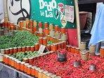 A 15 mn, le marché forain de St Pierre