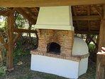 pizza oven in garden