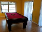 Pool table room, walk out to lake