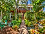 Enter through a private, peaceful tropical courtyard into your personal paradise!