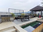 BBQ pit and outdoor common space