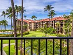 Fantastic ocean and garden views from the lanai of Papakea D-303