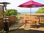 Monterey Bay view for morning coffee, whale watching or just a fun BBQ.