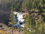 Firehole Falls in Yellowstone NP.