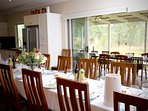 Large dinning space indoor and outdoor