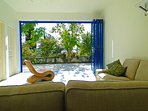 groundfloor: sliding doors with seaview