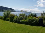 View over Loch Bay from the garden