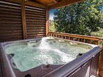 This hot tub is waiting just for you!