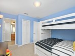 Suite 3 - Minions - 2 Twin Bed and 1 Full Bed, Closet, TV, Bathroom with Tub