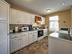 Show off your cooking skills in the fully equipped kitchen!