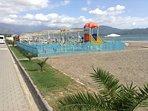 Children's playground on the beach