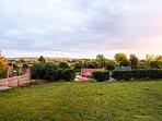 Le jardin avec vue sur la vallée de la Somme