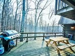 Barbecue With  A View of the Pocono Mountains
