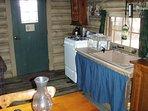 Kitchen corner; huge sink and gas range/oven