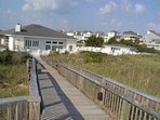 Clubhouse walkway to the beach