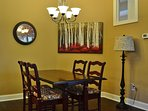 Eat Up in the Dinning Area at Lake Cove Cottage