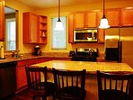 The Kitchen with Everything at Lake Cove Cottage