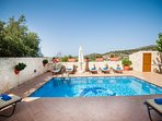 The pool area is equipped with sun beds, umbrellas and BBQ facilities!