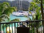 Veranda view on Eden Island deep water marina.
