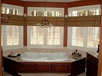 Jacuzzi tub for  2. Relax in your romantic bubble bath
