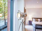 Beautiful stylish  Nautical Floor Lamp looking out towards the water..