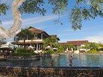 Spectacular Pool and Beach Club w/ our villa! Pool, gym, spa, restaurant, tiki bar