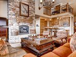 Open concept mountain contemporary home, vaulted ceilings, floor to ceiling stone fireplace, high quality furnishings...