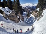 Fun twisty canyon in La Plagne