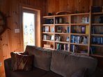 Library with books, games, and DVD's for the use of our guests.
