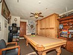Game Room Available in the Garage