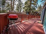 Front Deck with Charcoal BBQ