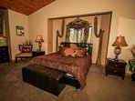Bedroom 1: Master Suite- King Bed, TV/DVD, Private Bath