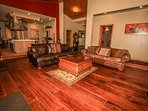 Hardwood Floors & Comfy Living Room Furnishings