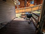 Lower Level Deck With Charcoal BBQ