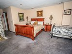 Bedroom 3: Master Suite- Queen Bed Plus 2 Twin Beds, TV, Balcony, Fireplace, Private Bath- 2nd Level